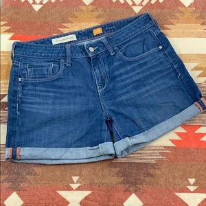 Pilcro and the letterpress denim shorts size 29!